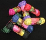 Raffia Pollot Multi Asstd Colours 50gm p/pce