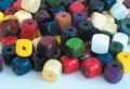 Square Wooden Beads - Multi