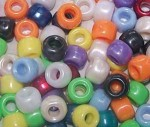 Jug Bead - Plastic Pearlised Multi