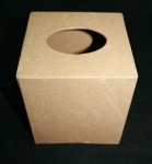 Paper Mache Tissue Square Box - 1pc