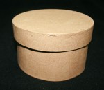 Paper Mache Medium Box Round 1pce - 5inch