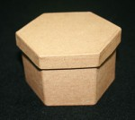 Paper Mache Box Small Hexagon 1pce