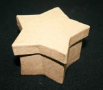 Paper Mache Box Small Star 1pce
