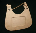 Paper Mache Frame Handbag Medium 1pce