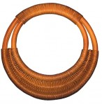 Rattan Round Double Weave Bag Handle - Mid Brown