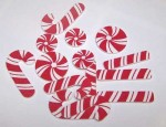 Adhesive Candy Cane Sheets