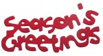 Foam Adhesive Word - Seasons Greetings