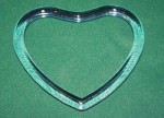 Acrylic Bag Handle #39 Heart Blue