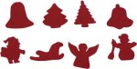 Assorted Felt Xmas Shapes