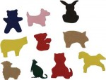 Felt animal shapes